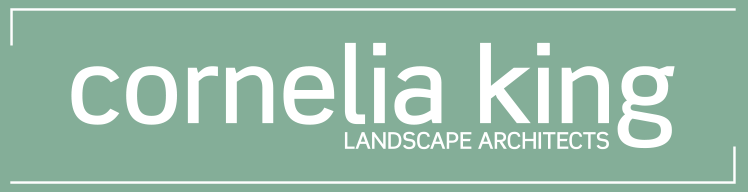 This is the logo for Cornelia King, Landscape Architect.